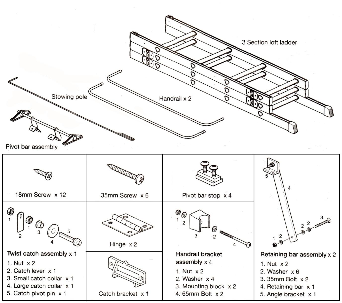 sliding loft ladder 2