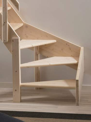 Grand Space Saving Staircase With Quarter Turn
