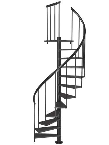 Deluxe Black Spiral Staircase