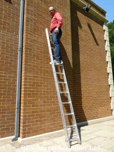 3 section extension ladder next day delivery ebay. Black Bedroom Furniture Sets. Home Design Ideas