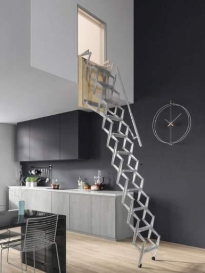 werner ... & werner aluminum attic ladder ah2512 - Tulum.smsender.co