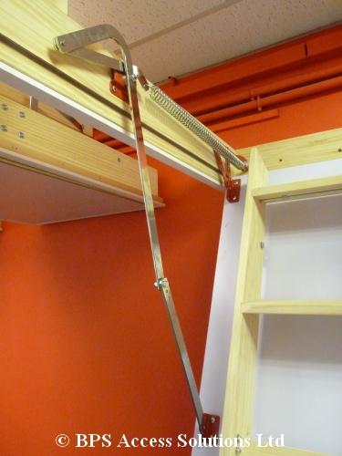 grand wooden loft ladder loft ladders bps access solutions. Black Bedroom Furniture Sets. Home Design Ideas