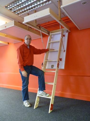 Grand Wooden Loft Attic Ladder Ladders Multiple Frame