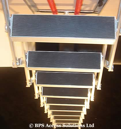 10ft concertina loft attic ladder next day. Black Bedroom Furniture Sets. Home Design Ideas