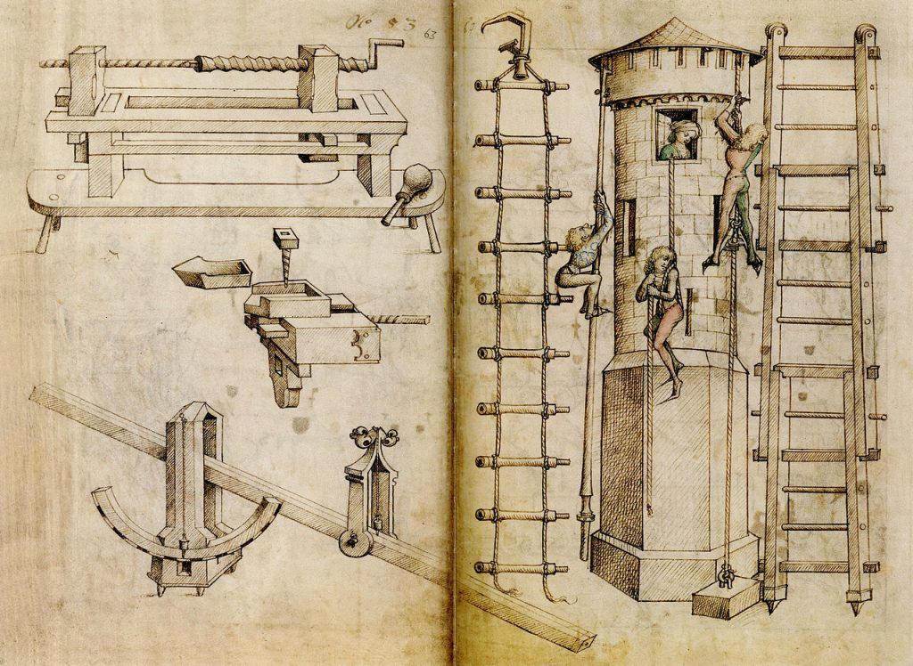 ladders from the end of the 15th century in Germany