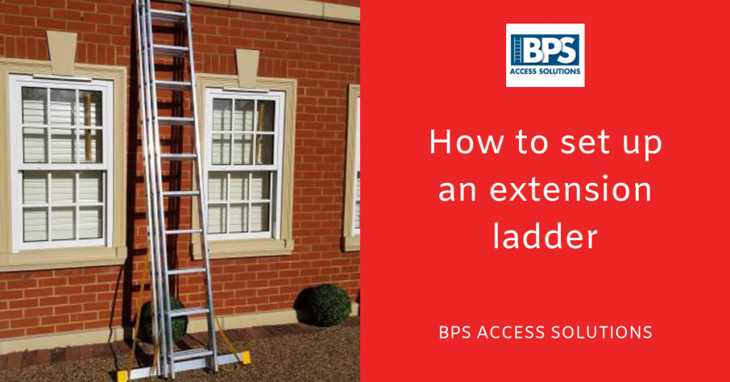 How to set up an extensions ladder