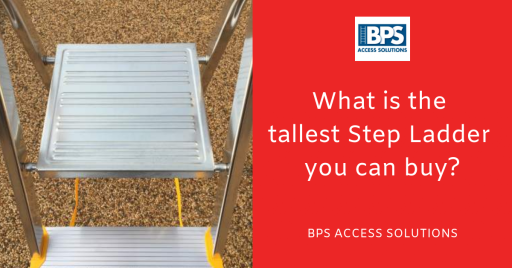 What is the tallest step ladder you can buy