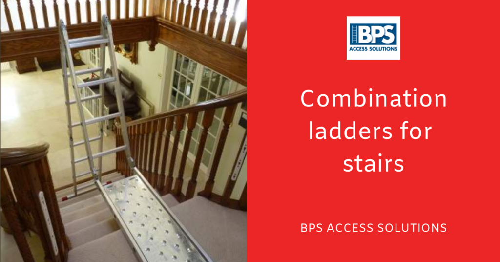 Combination ladders for stairs