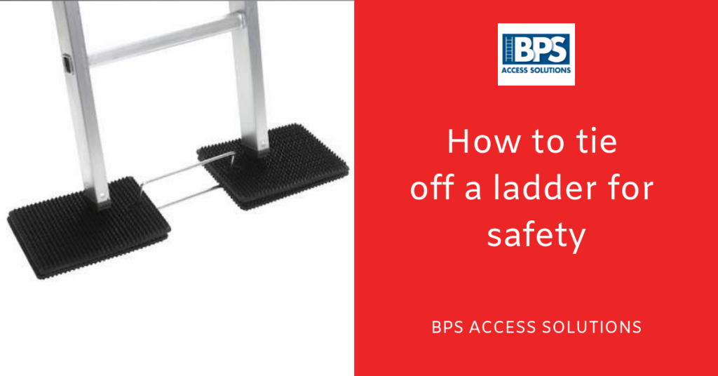 How to tie off a ladder for safety