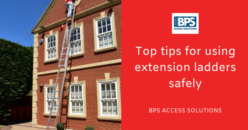 Top tips for using extension ladders safely