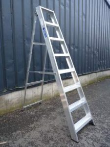 The Industrial Swing Back Step Ladder